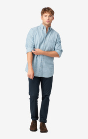 Boomerang - Chambray shirt slim fit bd - Light indigo