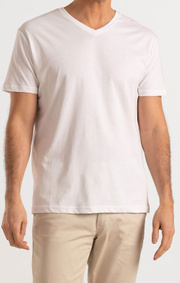 Boomerang - JARL V-NECK T-SHIRT - White