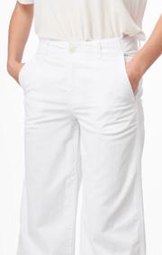Boomerang - Franka poplin culotte - White