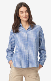 Boomerang - Alva striped shirt - Deep sea