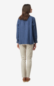 Boomerang - LINA LINEN SHIRT - Blue nights
