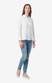 Boomerang - Lina linen shirt - White