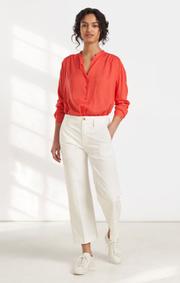 Boomerang - Flora blouse - Tomato red