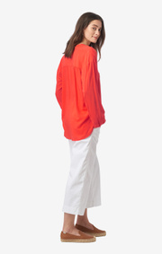 Boomerang - Flora blouse - Tomato red