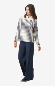 Malva striped jersey top