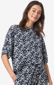 Boomerang - Julia printed top - Blue nights