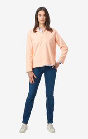 Boomerang - JESSICA POLO L.S. T-SHIRT - Afternoon peach