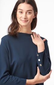 Boomerang - Eva jersey top - Blue nights