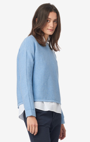 Boomerang - MAJ Organic SWEATER - Light indigo