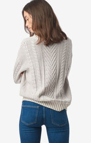 Boomerang - Py cable sweater - Putty