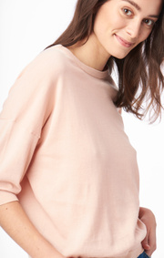 Boomerang - Gina o-neck sweater - Afternoon peach