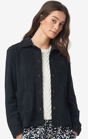 Boomerang - Laura suede overshirt - Night sky