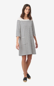 Boomerang - Lykke striped dress - Offwhite