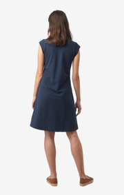 Boomerang - BELLA PIQUE DRESS - Blue nights