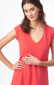 Boomerang - BELLA PIQUE DRESS - Tomato red