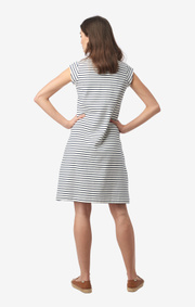 Boomerang - Bella pique dress stipe - Offwhite