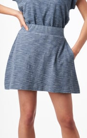 Molly indigo skirt