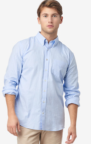 NILS ORGANIC COTTON SOLID OXFORD T.A. FIT B. SHIRT