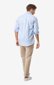 Boomerang - NILS ORGANIC COTTON SOLID OXFORD T.A. FIT B. SHIRT - Ice blue