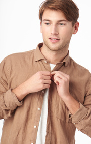 LINUS LINEN T.A. FIT CUT AWAY SHIRT