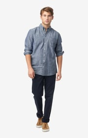 Anders chambray t.a. fit b.d. shirt