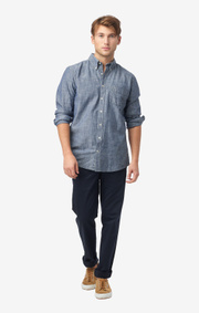 Boomerang - Anders chambray t.a. fit b.d. shirt - Light indigo