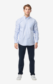 Nils org. cotton stripe oxford t.a. fit b.d. shirt