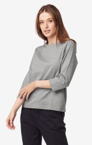 Farida melange interlock top