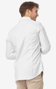Nisse org. cot. stretch slim fit b.d. shirt