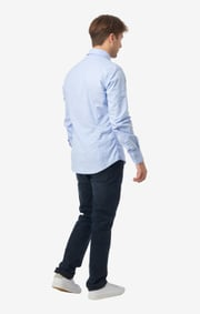 Boomerang - NISSE ORG. COT. STRETCH SLIM FIT B.D. SHIRT - Ice blue