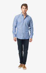 Boomerang - Edvin striped t.a. fit b.d. shirt - Deep sea
