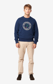 Boomerang - PELLE CREW NECK SWEATSHIRT - New blue