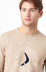Boomerang - PELLE CREW NECK SWEATSHIRT - Sand