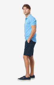 Boomerang - JOE ORGANIC COTTON POLO PIQUÉ - Shower blue