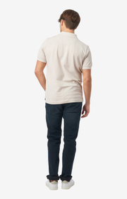 Boomerang - Joe organic cotton polo piqué - Putty