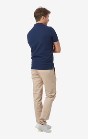 Boomerang - JOE ORGANIC COTTON POLO PIQUÉ - New blue