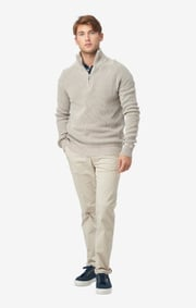 Boomerang - Sixten half zip sweater - Putty