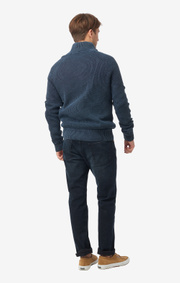 Boomerang - Sixten half zip sweater  - Blue nights