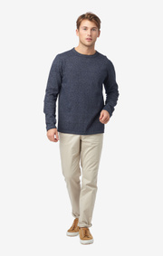 Boomerang - Axel o-neck sweater - Dark Indigo