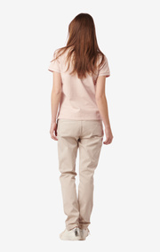 MARY POLO PIQUE SHIRT Dusty pink