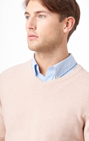 Boomerang - David v-neck sweater - Sand
