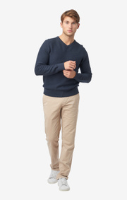 Boomerang - DAVID V-NECK SWEATER - Blue nights