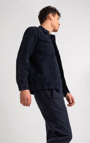 Boomerang - Leon suede overshirt - Blue nights