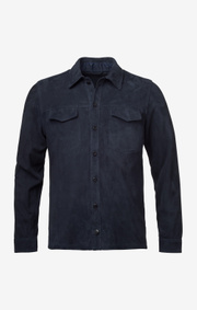 Boomerang - Leon suede overshirt - Blue nights