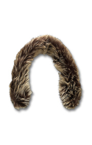 Boomerang - Fake fur collar - Natural