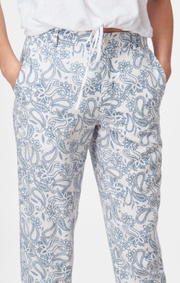 Boomerang - GRETA PRINTED TROUSER - Crown blue