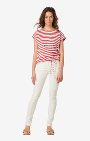 Boomerang - ALBA STRIPED TOP - Faded red