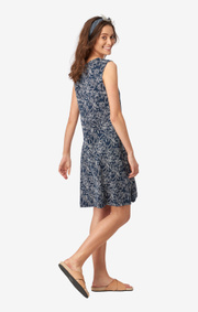 Boomerang - EDDA PRINTED JERSEY DRESS - Dark Indigo