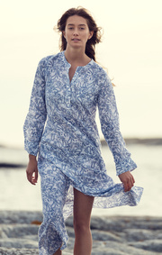 BÅSTAD PRINTED LINEN DRESS
