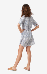 BETTY PRINTED LINEN DRESS